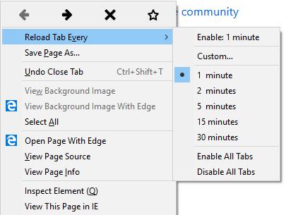 Auto-Refresh feature for Microsoft Edge - Microsoft Community