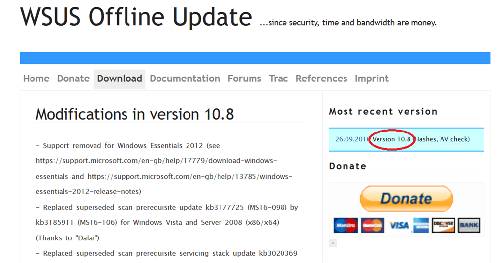 Windows 7 update standalone installer searching for updates hangs