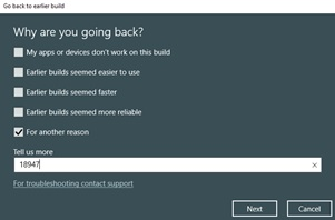Rollback from Windows 10 Build 18947 #5