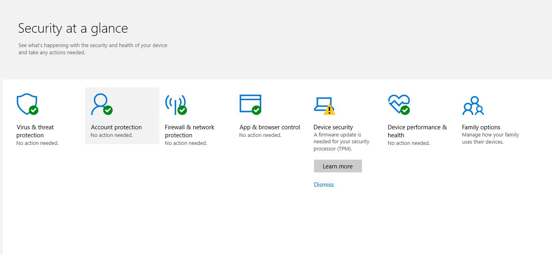 Windows Defender Security Center - Microsoft Community
