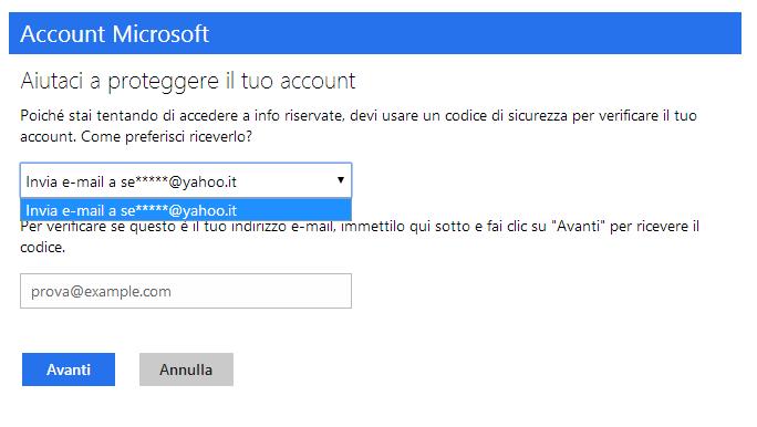 Aiutaci a proteggere il tuo account microsoft community for Il tuo account e stato attaccato