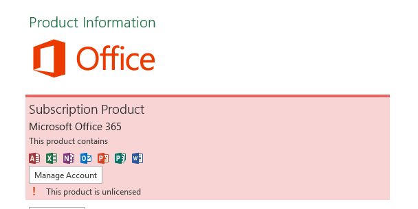 how to activate microsoft office 2013 unlicensed product