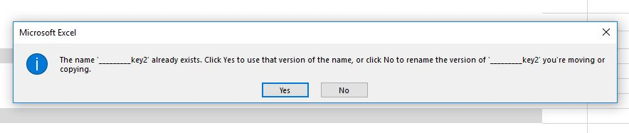 Error message when trying to copy a worksheet in excel
