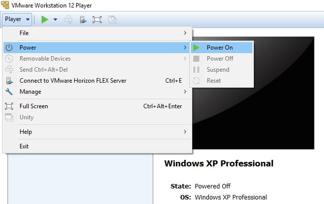 Install VMware Player virtual machines in Windows 10