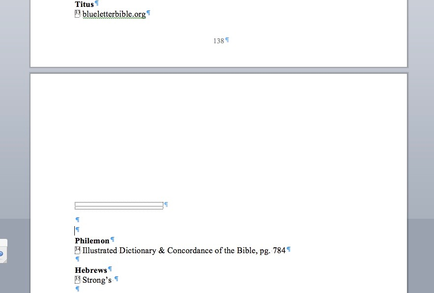 Can't delete what looks like a section break on my endnotes