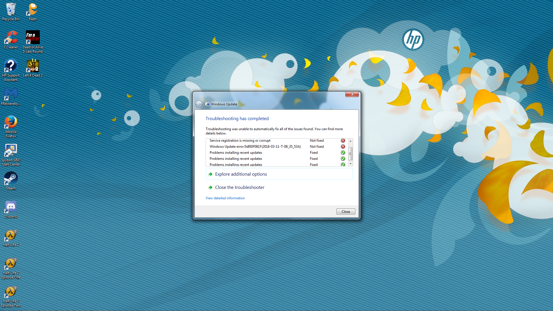 Windows 7 fails to install security update - Microsoft Community