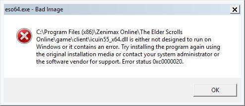 error status 0xc0000020 - Microsoft Community