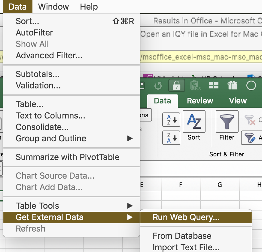 Cannot Open an IQY file in Excel for Mac O365 - Microsoft