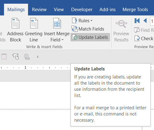 Mail Merge From Excel Doc To Word Labels