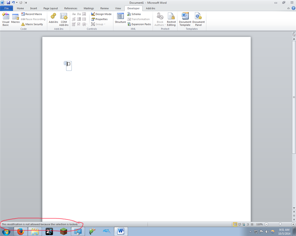 microsoft word locked document