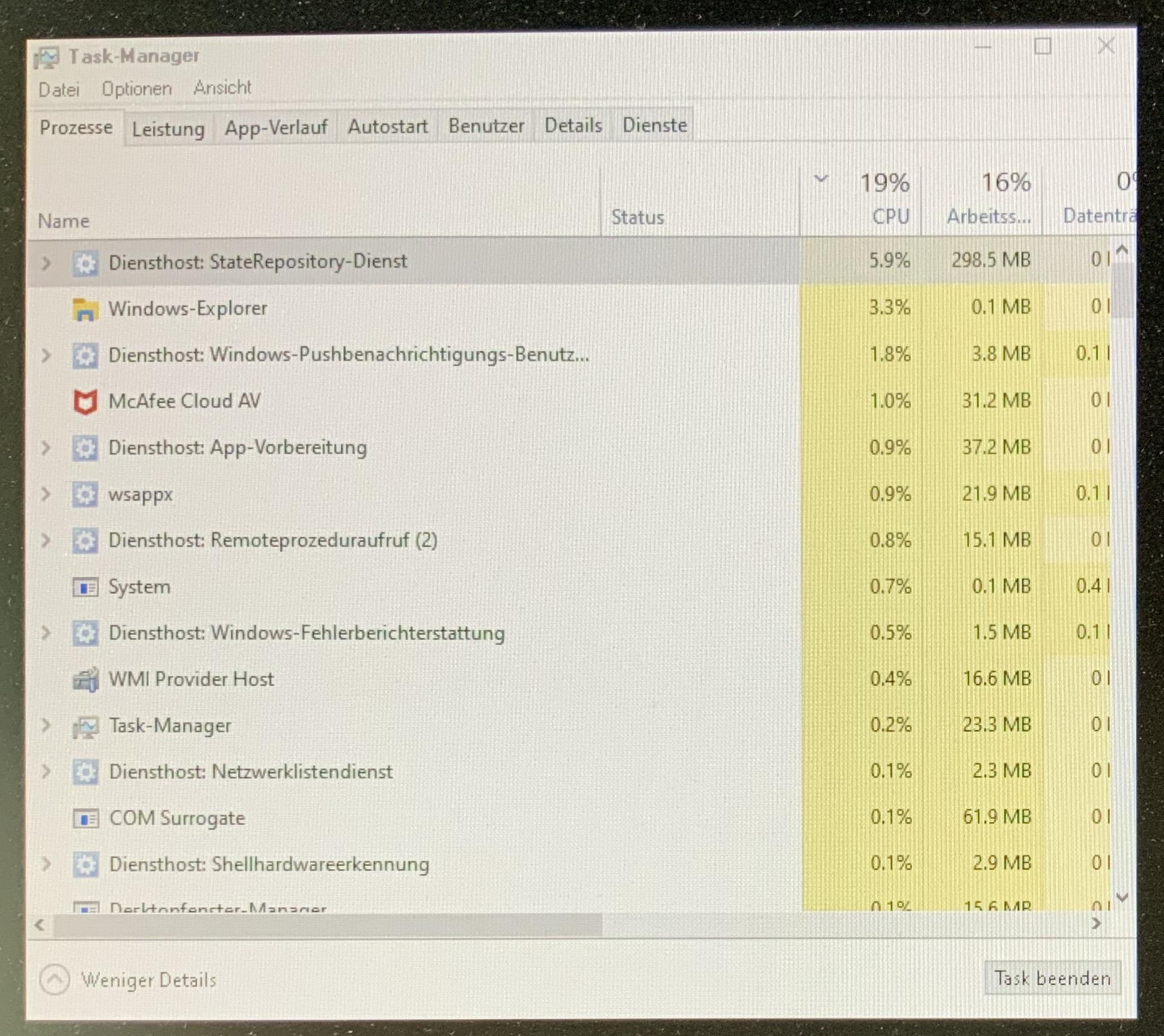 Nach Windows Login bleibt Screen bis auf zuckende Taskleiste dunkel, arbeitet aber im...