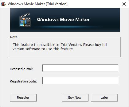 Windows movie maker wont let me export without purchase image ccuart Image collections