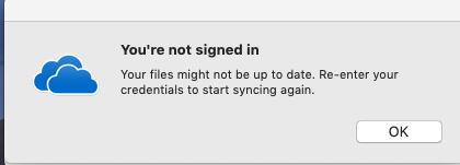 OneDrive for Business Logging out on Mac OS - Microsoft Community