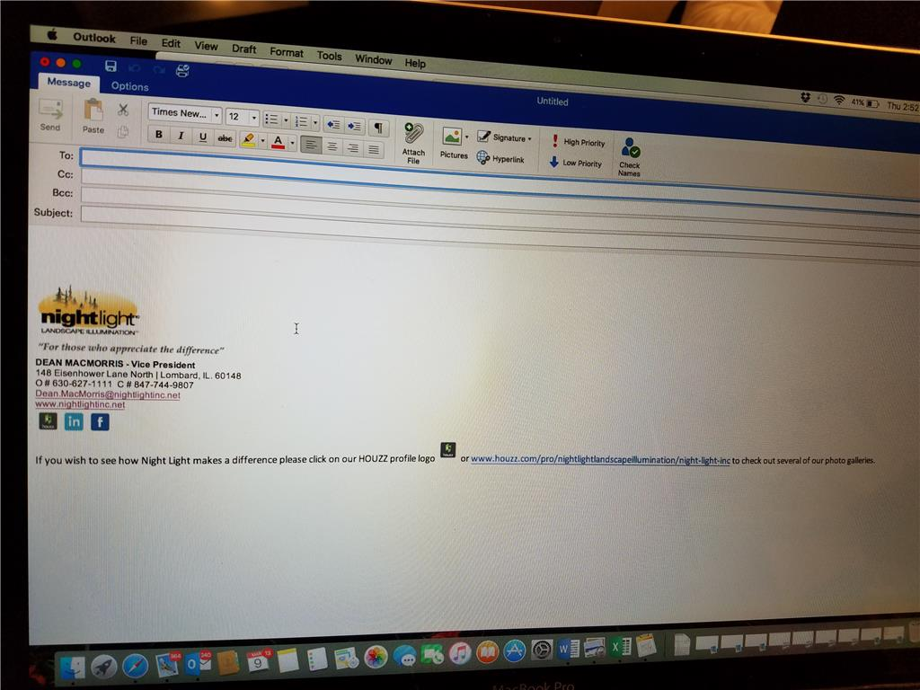 microsoft outlook signature image link