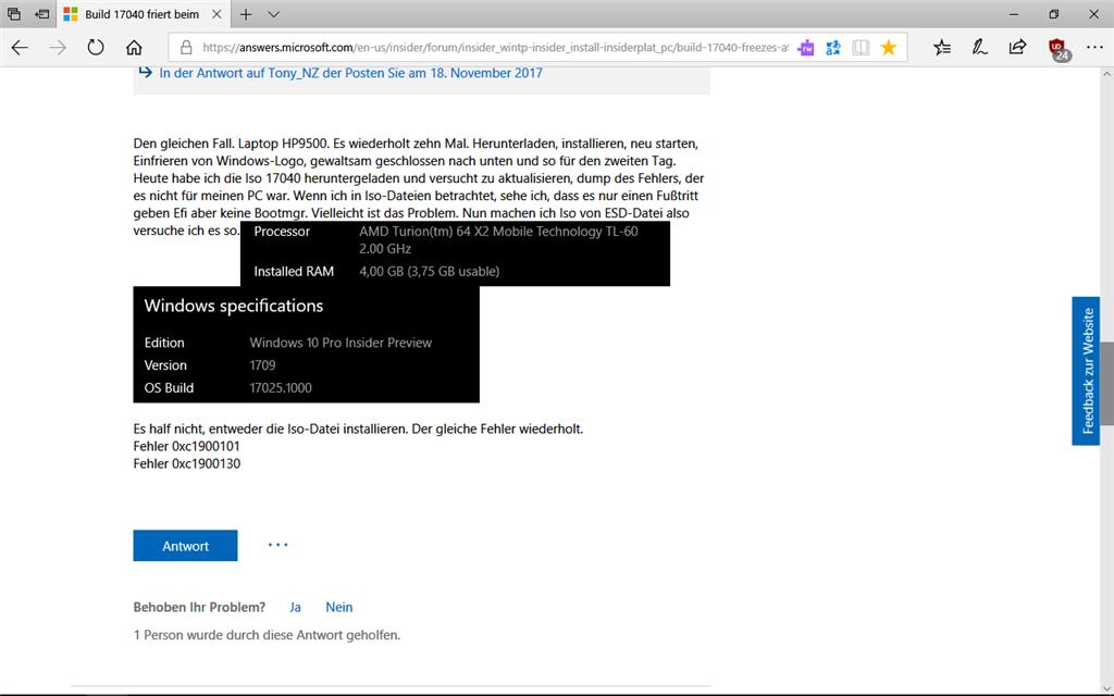 17040// für ältere AMD-Proz. nicht installierbar!
