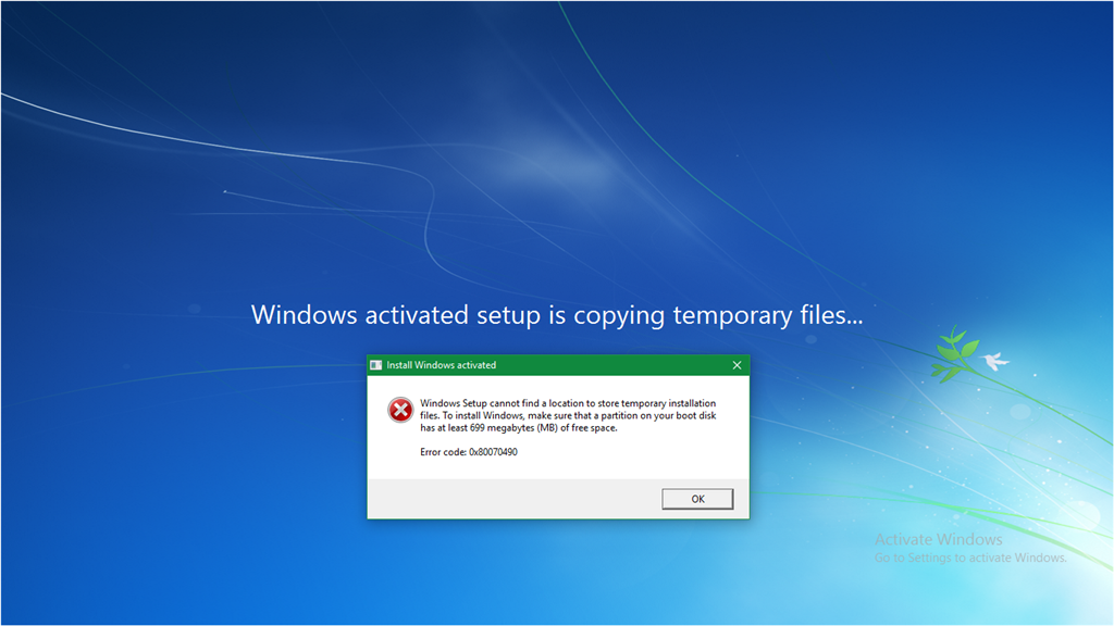 windows 7 cant activate online