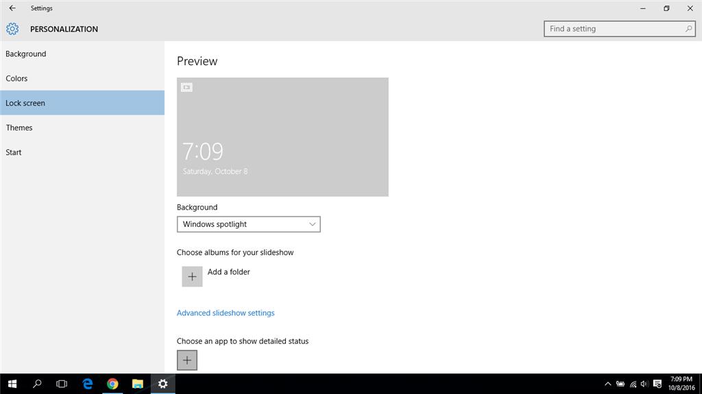 Windows 10 Lock Screen stuck on Slideshow? - Microsoft Community