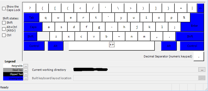 MSKLC under Windows 10: Create custom keyboard layout which