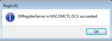 error component mscomctl ocx or one of its dependencies not correctly registered