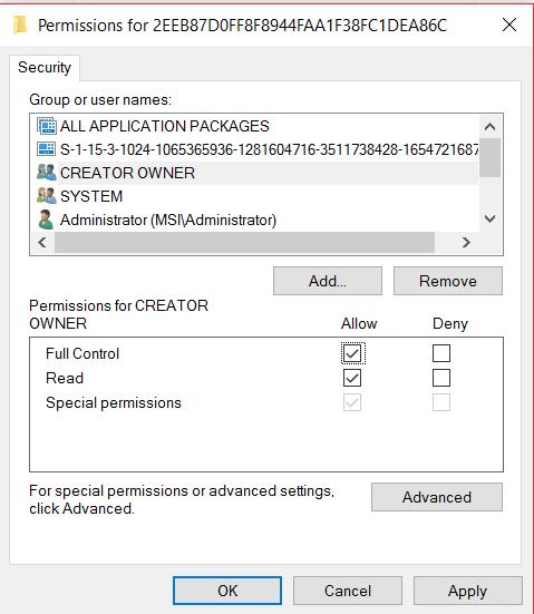 Registry Permission Issues - Windows 10 - Microsoft Community
