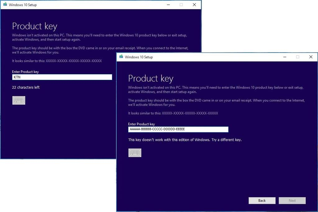 Windows 10 Product key - We could'nt verify the product ...