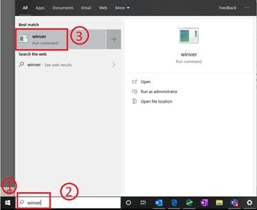 Verify OS build number