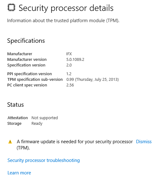 Windows Defender Security Center - Microsoft Community