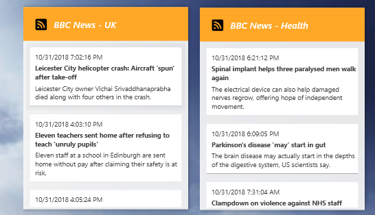 How to scroll down an RSS news feed that I've put as a widget on