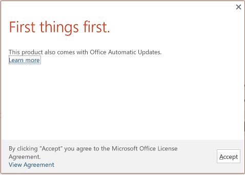 activating office 2016
