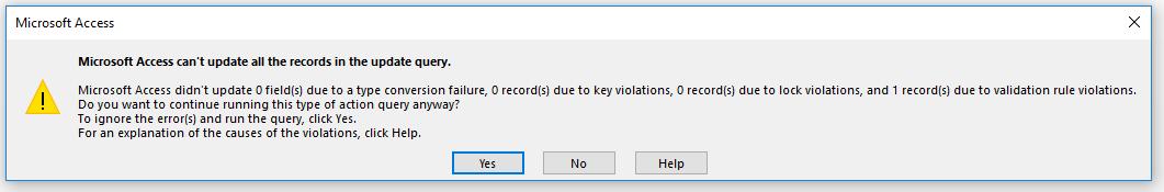 Update Yes / No field - Microsoft Community