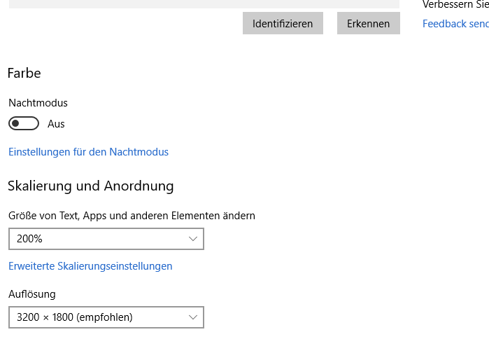 Helligkeitseinstellung seit letztem Windows-Update 1803 nicht mehr möglich