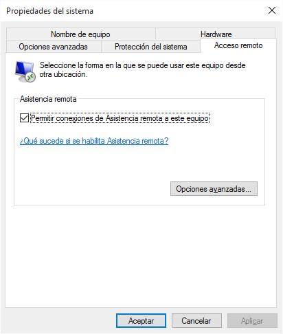 Escritorio Remoto Windows 10 Microsoft Community