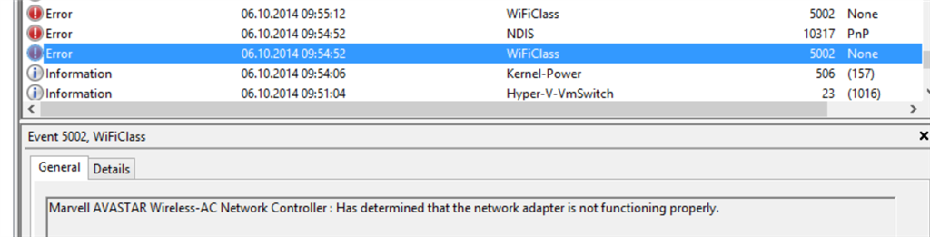 DRIVER_POWER_STATE_FAILURE -WiFiClass - Microsoft Community