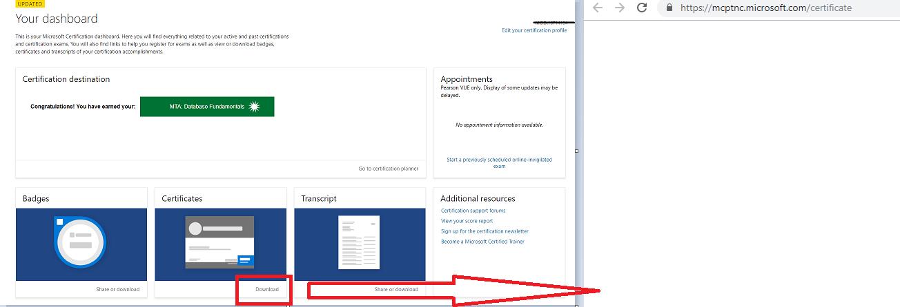 Microsoft Certification Certificate Download