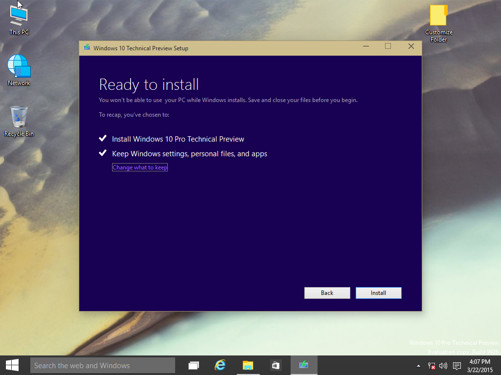 how to perform a repair upgrade using the windows 10 iso file