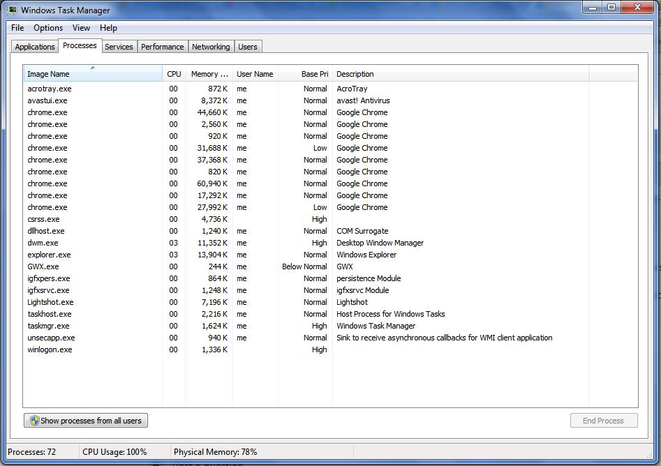unsecapp.exe high cpu windows 7