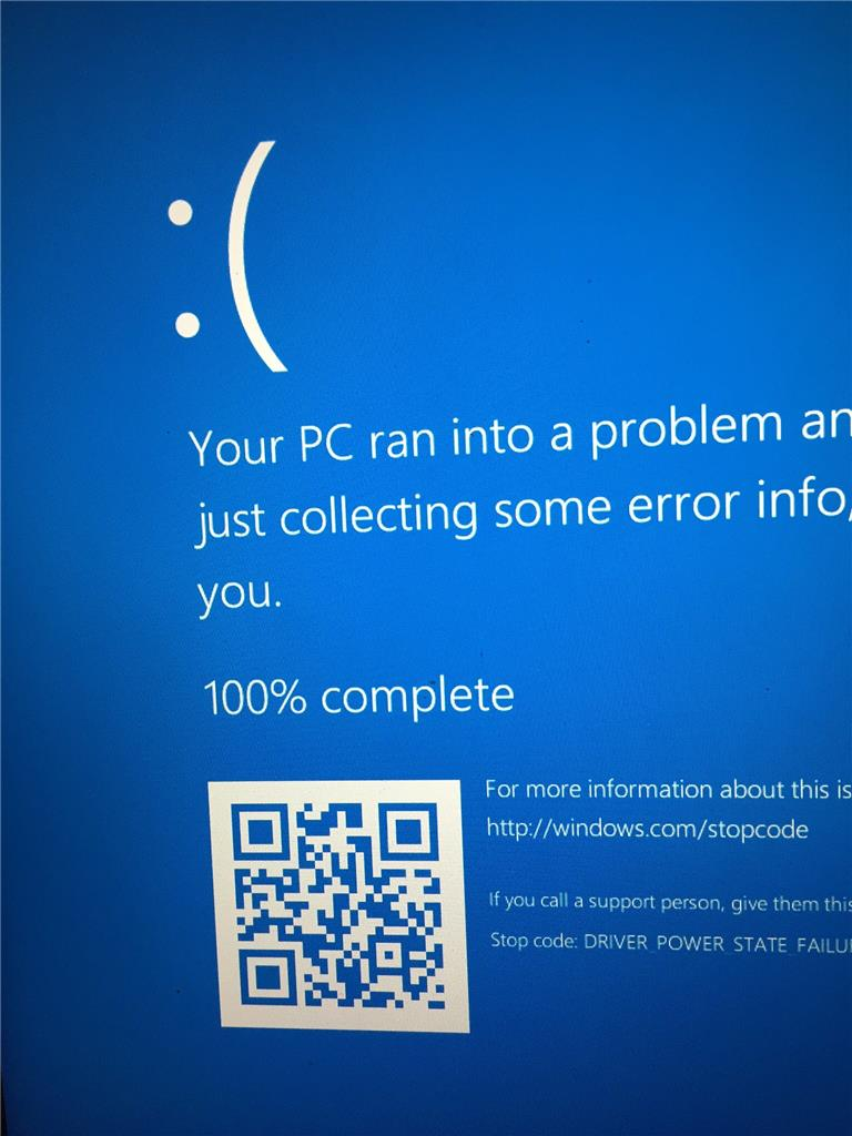 Ghost image of blue screen error has permanently appeared on the
