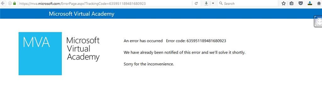 Unable To Access Mva Site Error Code 635951189481680923 Training