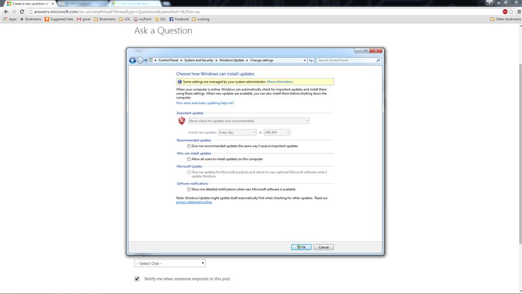 Windows update won't let me update  Stuck on windows 7 - Microsoft