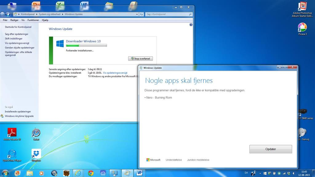 Opgradering fra Windows 7 til Windows 10 - Microsoft Community
