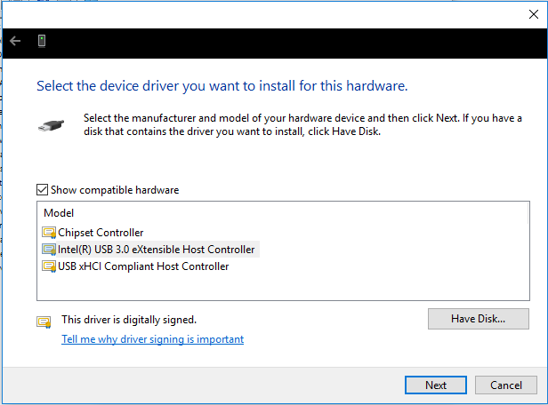 Intel R Usb 3.0 Extensible Host Controller Driver Windows 10