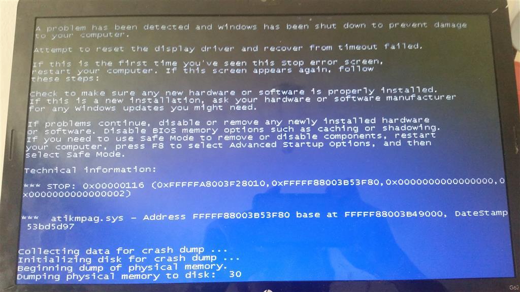 Blue screen due to AMD card  - Microsoft Community