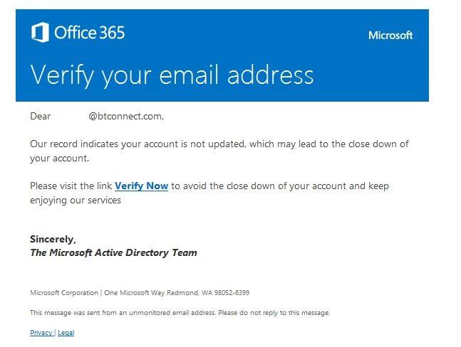 genuine microsoft email
