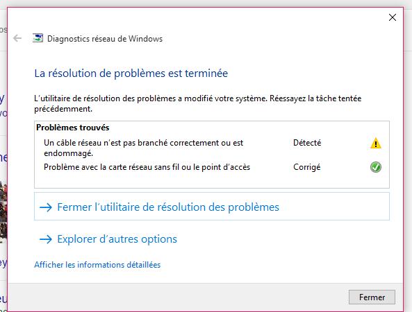 Probleme Wifi La Passerelle Par Defaut N Est Pas Microsoft Community