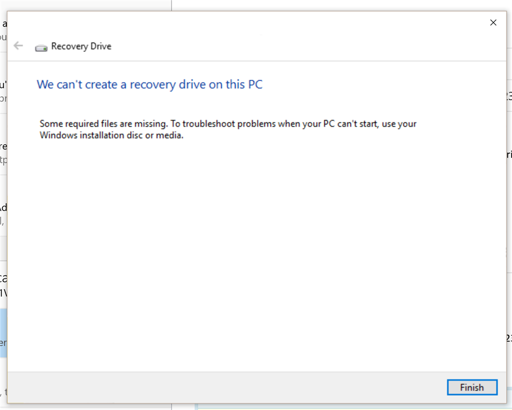asus windows 10 recovery not working