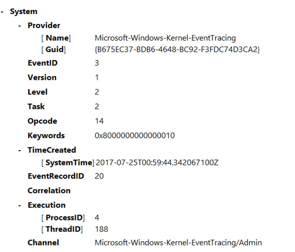 Eventlog-airspacechannel остановлен из-за следующей ошибки 0xc0000188