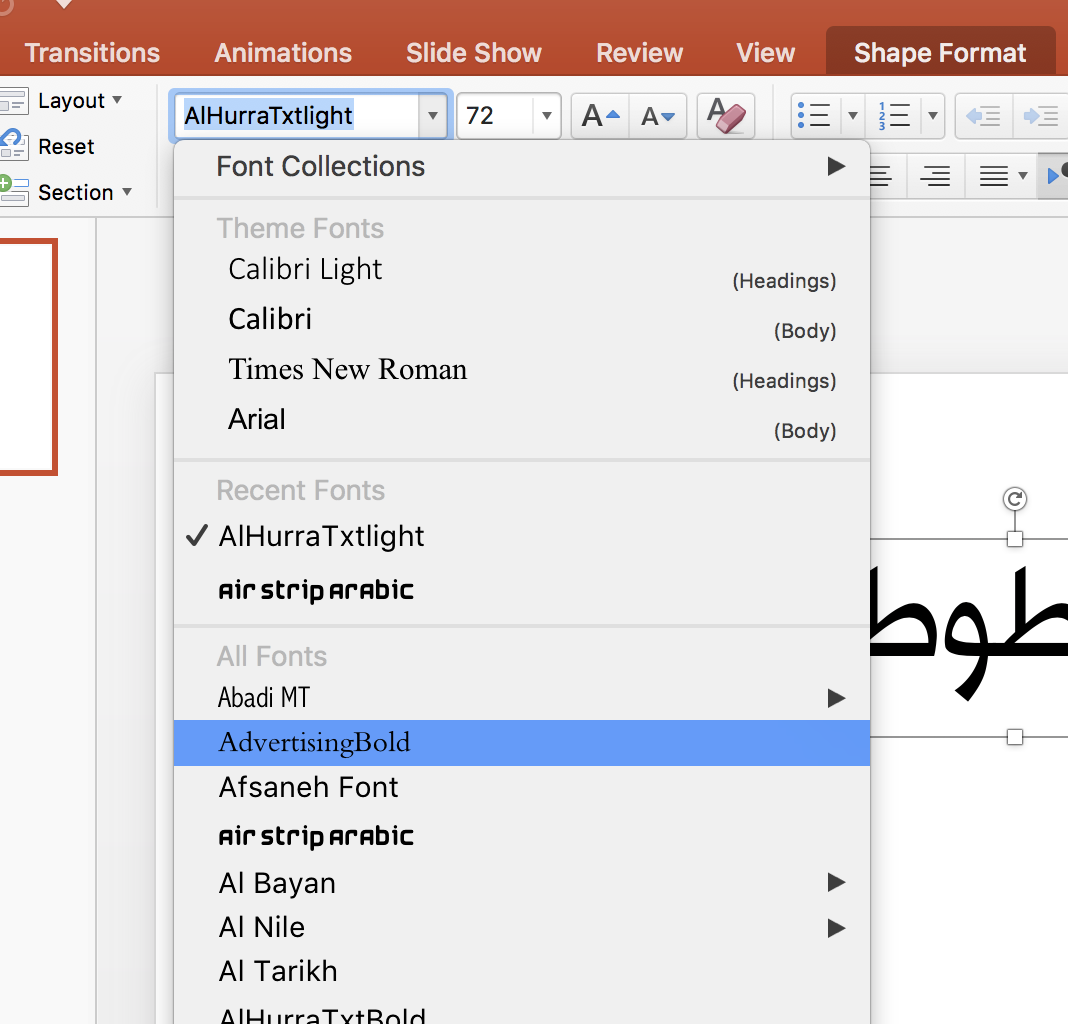 Preview Not Available For Arabic Fonts - Microsoft Community