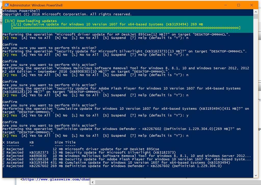 Microsoft driver update for HP DeskJet 895Cse locks up