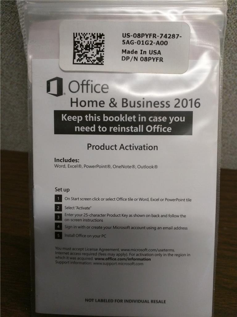 install microsoft office home and business 2016 with product key