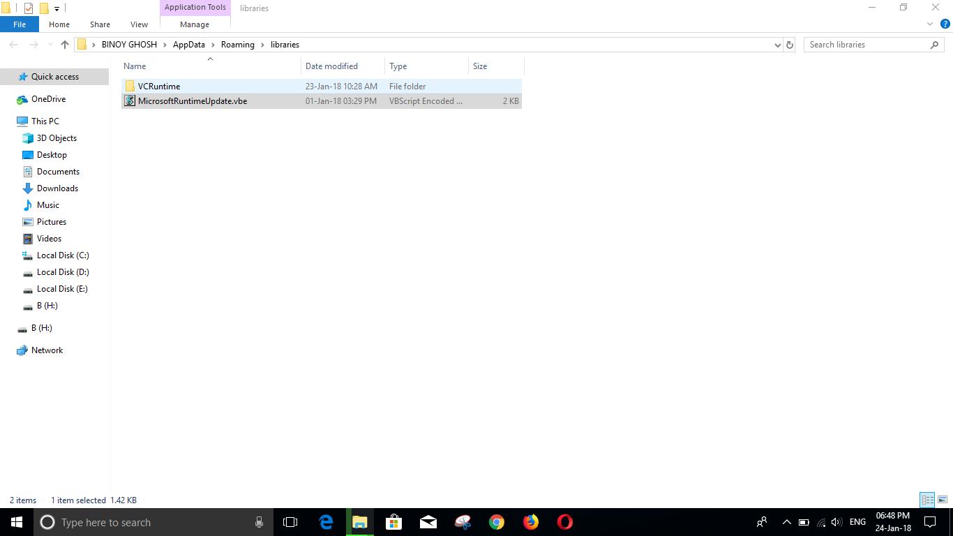 Can I delete the file 'MicrosoftRuntimeUpdate.vbe